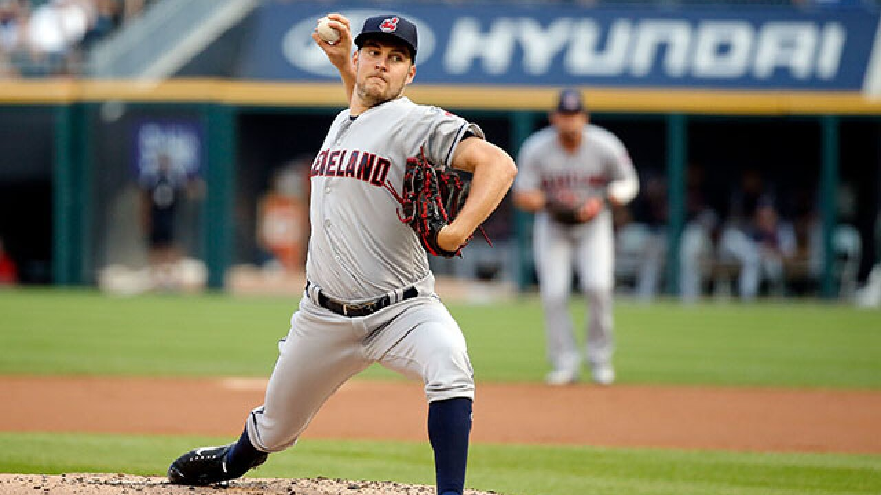 Indians starting pitcher Trevor Bauer on Disabled List after being struck by ball
