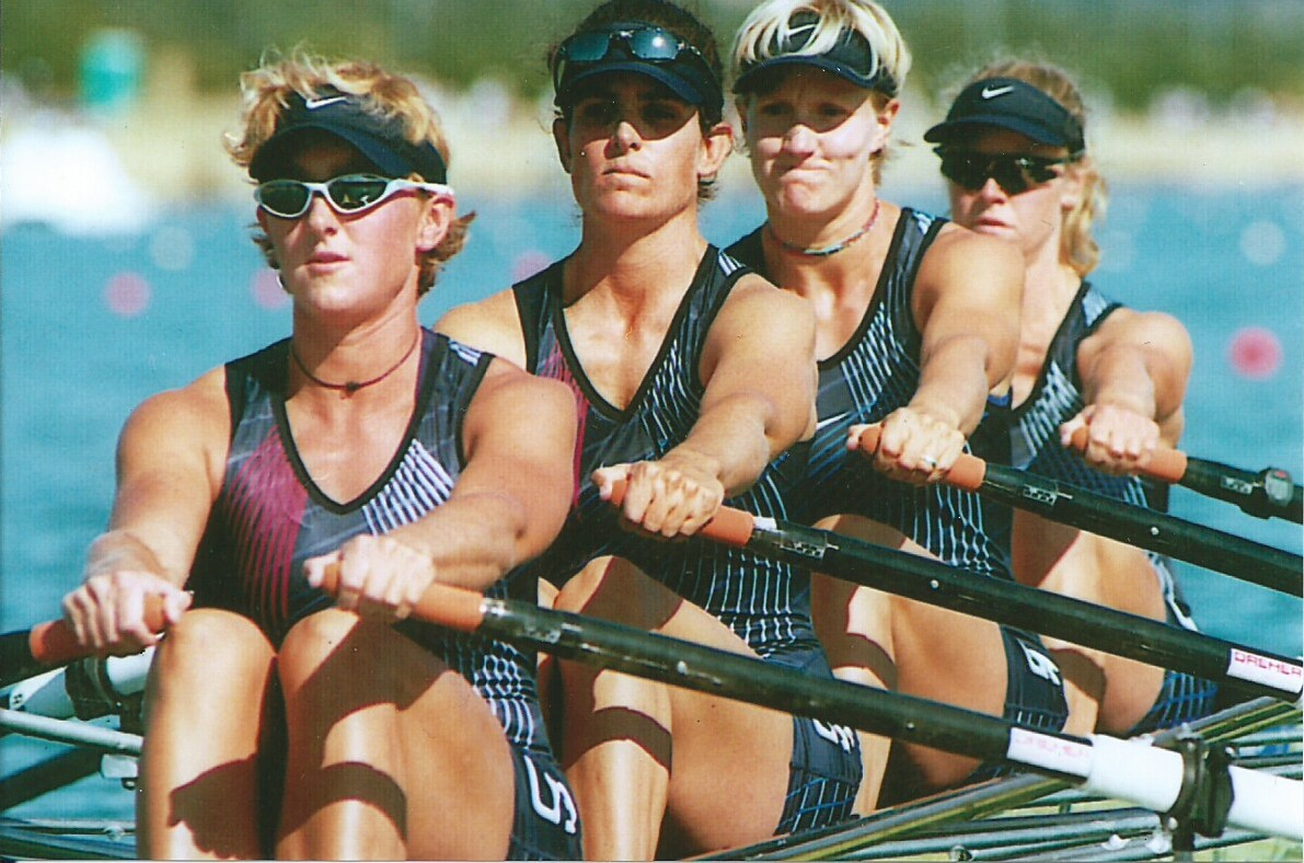Kelly Salchow McArthur rowing in 2000 Summer Olympics
