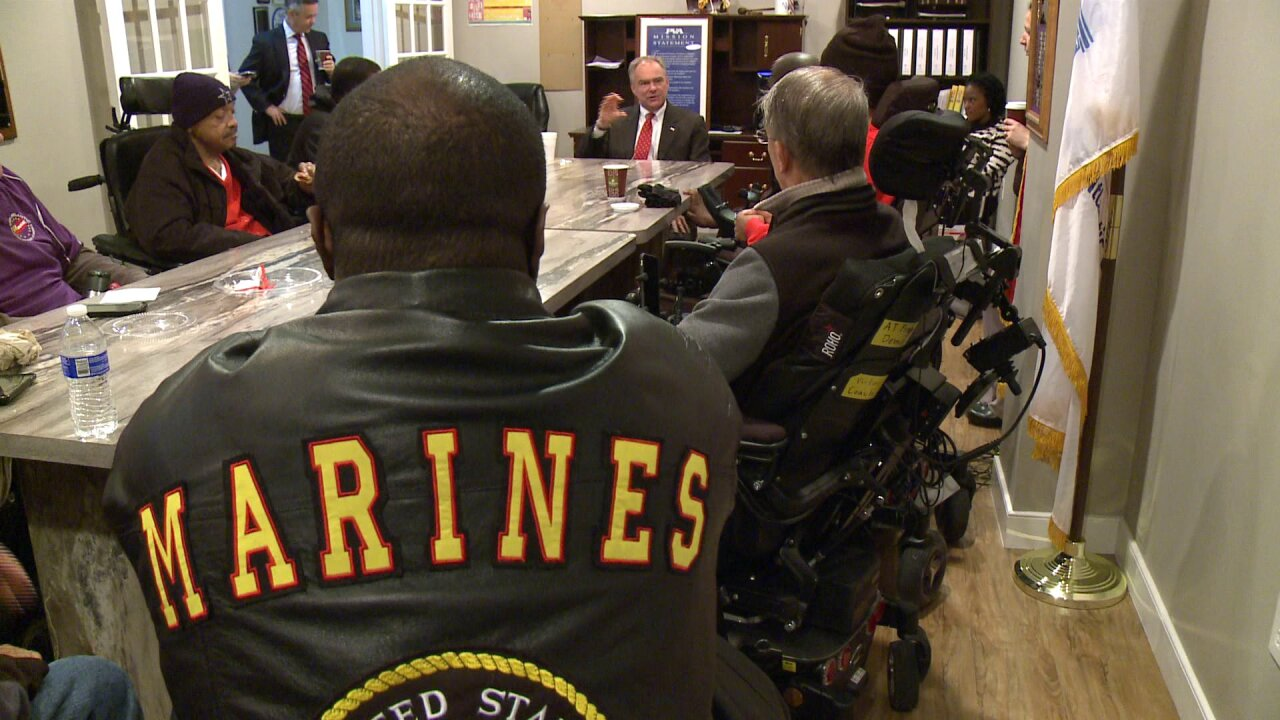 Senator Kaine meets with paralyzed veterans to discuss improved care