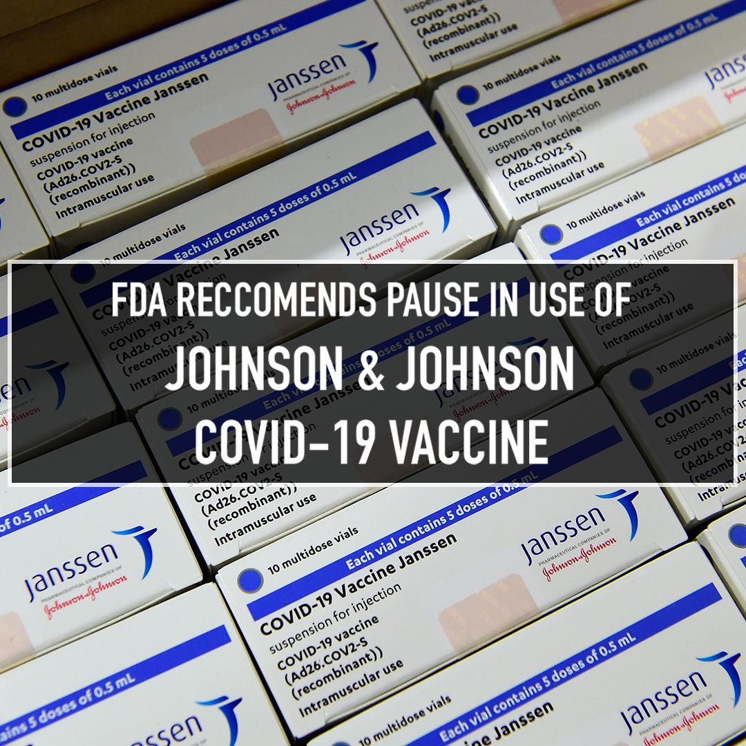 FDA recommends pause in Johnson & johnson vaccine
