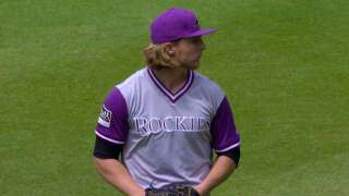 Jon Gray pitched 6 shutout innings and Mark Reynolds hit a 2-run homer as the Rockies beat Atlanta