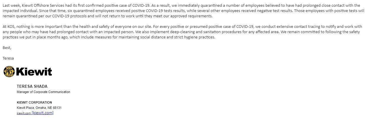 KIEWIT COVID-19 statement 0615.JPG