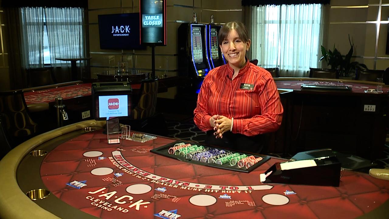 JACK table games dealer