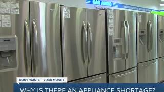 Appliance shortage still causing headaches 9 months into the pandemic