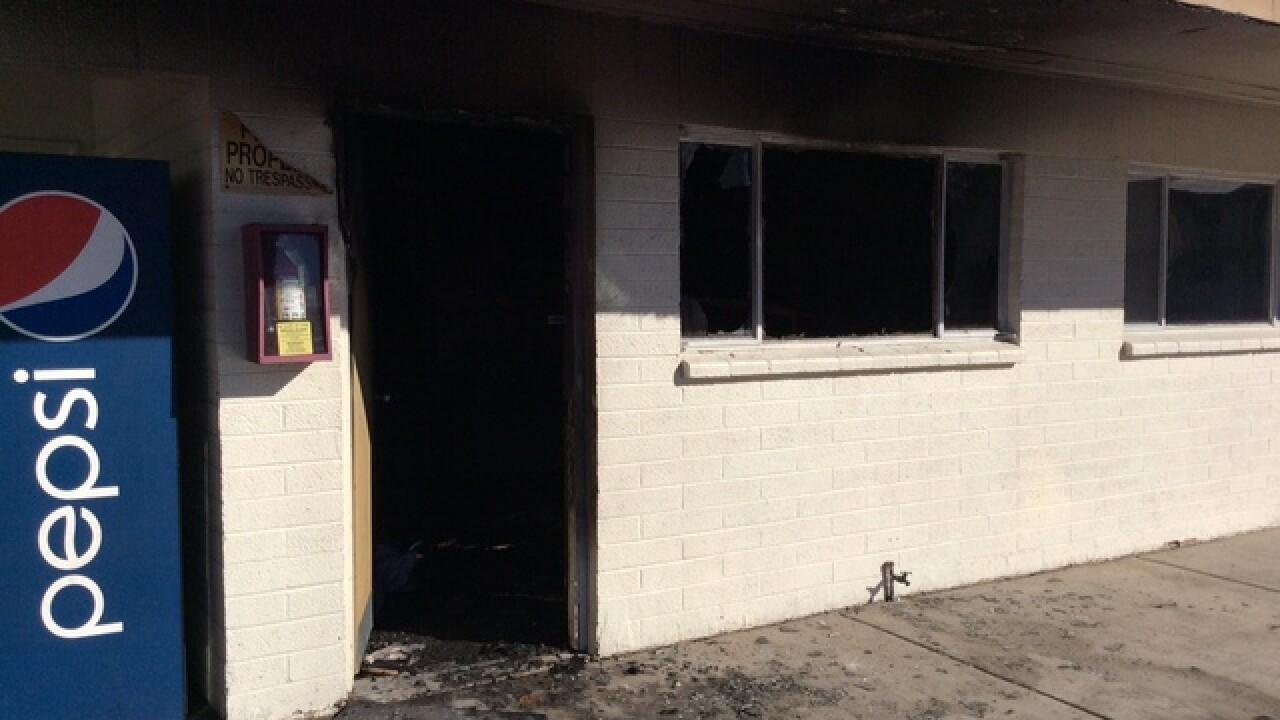 Room catches fire at Holiday Motel