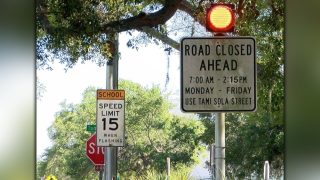 Sarasota district wants to close road by school