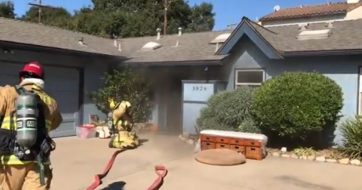 Fire breaks out in kitchen of Santa Barbara home