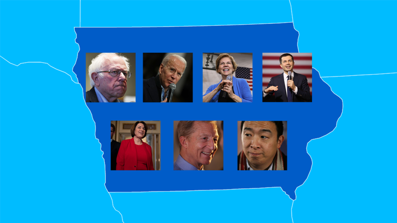 Iowa caucuses: Democratic presidential candidates seek momentum in hotly-contested race