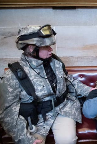 Photo of Sandra Parker inside Capitol on Jan. 6 from federal affidavit
