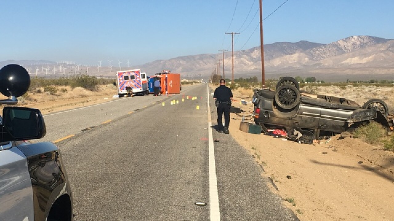 Hall Ambulance involved in rollover in Cal City