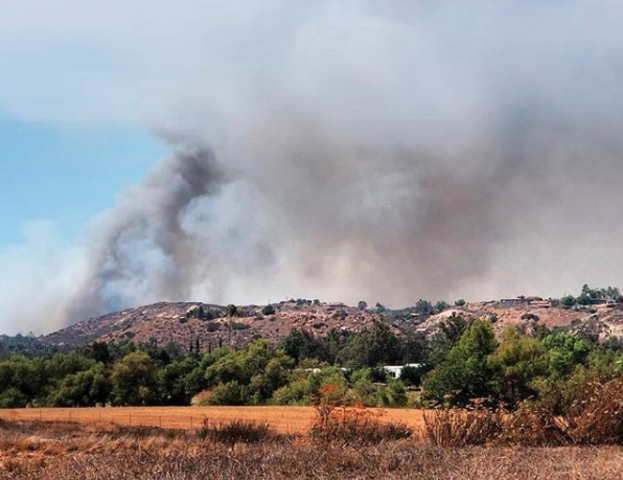 PHOTOS: Brush fire burns in San Pasqual Valley