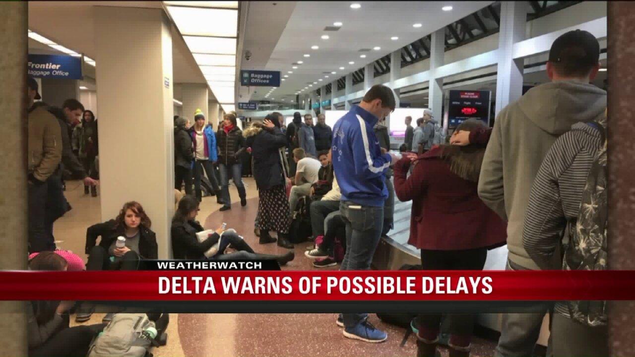 Delta warns of delays, check flights before heading toairport