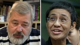 2021 Nobel Peace Prize journalists