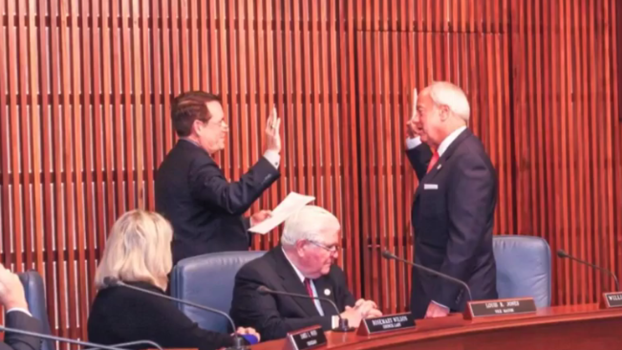 Will Sessoms sworn in for third term as Mayor of VirginiaBeach