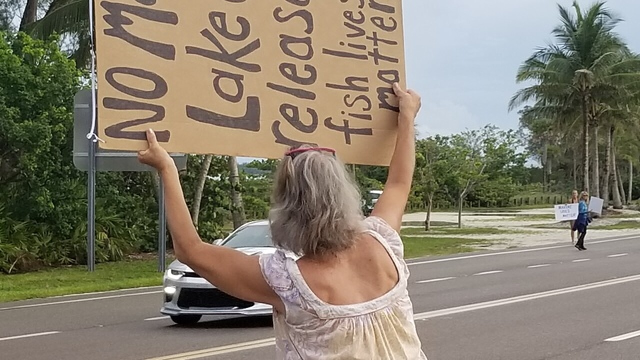 """Lake O"" protest continue on Sanibel Causeway"