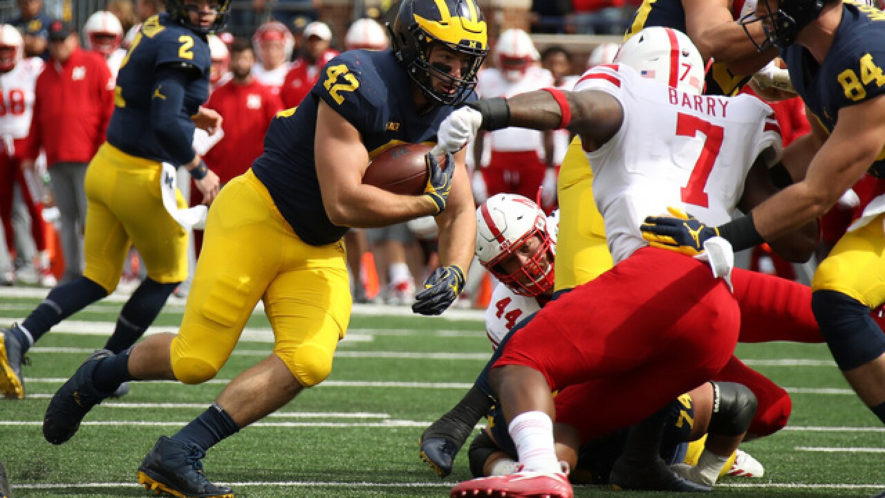 Ben Mason, Karan Higdon help No. 19 Michigan run past Nebraska