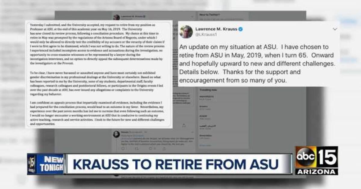 ASU professor accused of misconduct to retire
