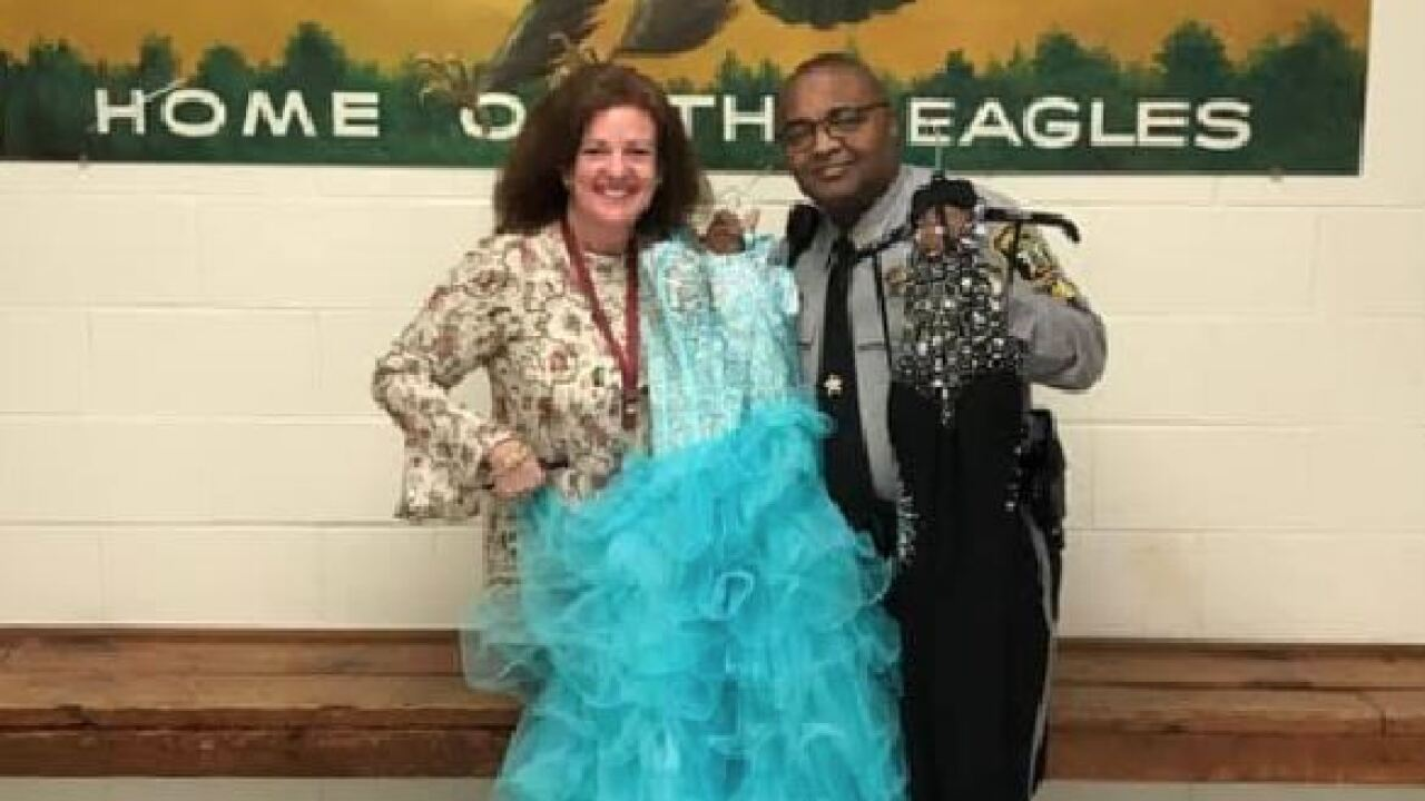 Pasquotank Sgt. helps students by collecting high heels, dresses and tuxedos for prom