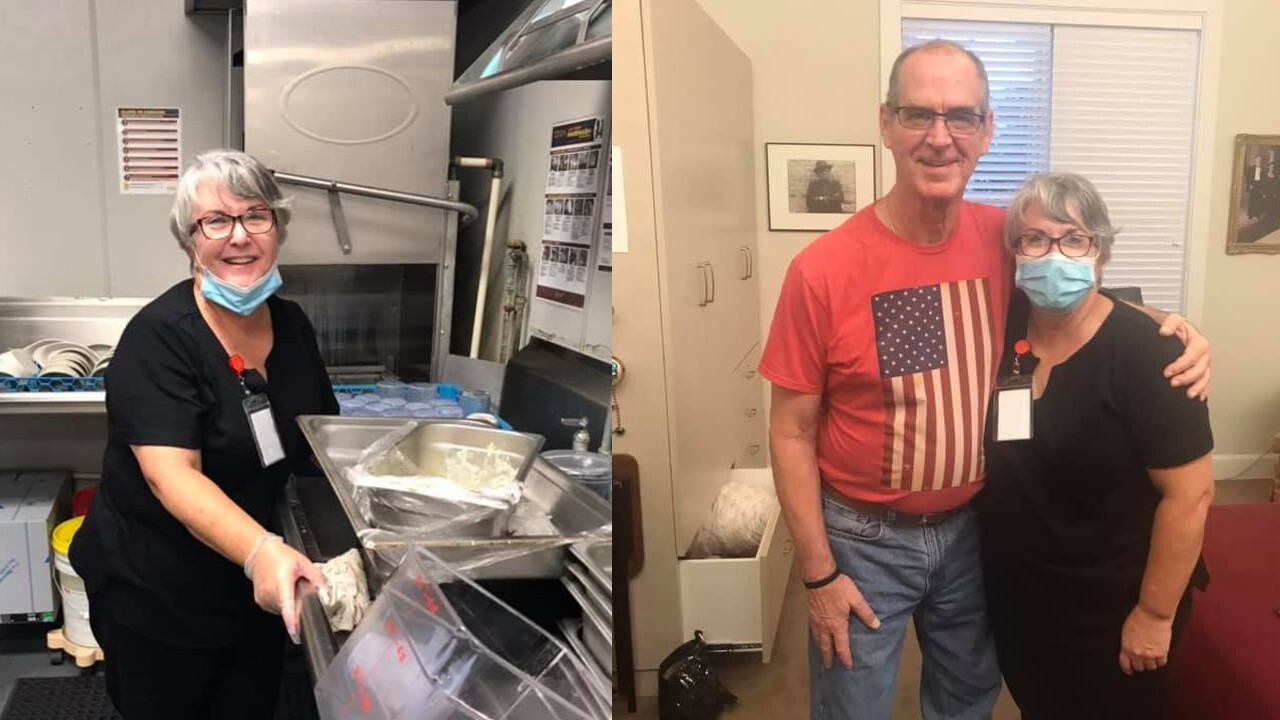Woman gets dishwashing job at assisted living facility so she can visit husband with Alzheimer's