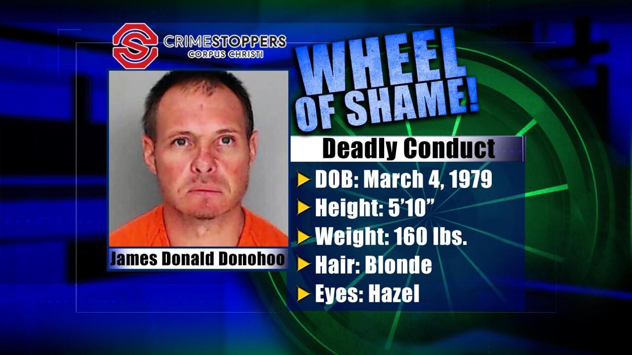 Wheel of Shame Fugitive: James Donald Donohoo