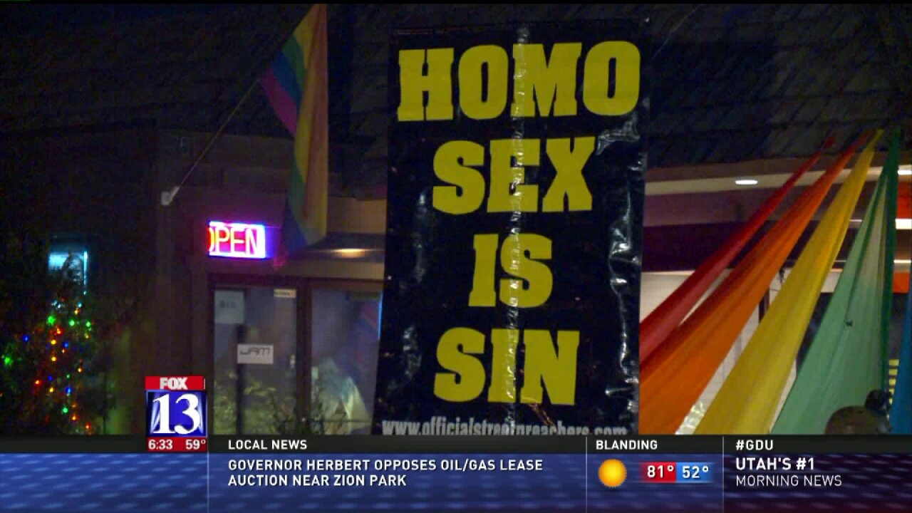 Police respond to anti-gay protest at Salt Lake City club