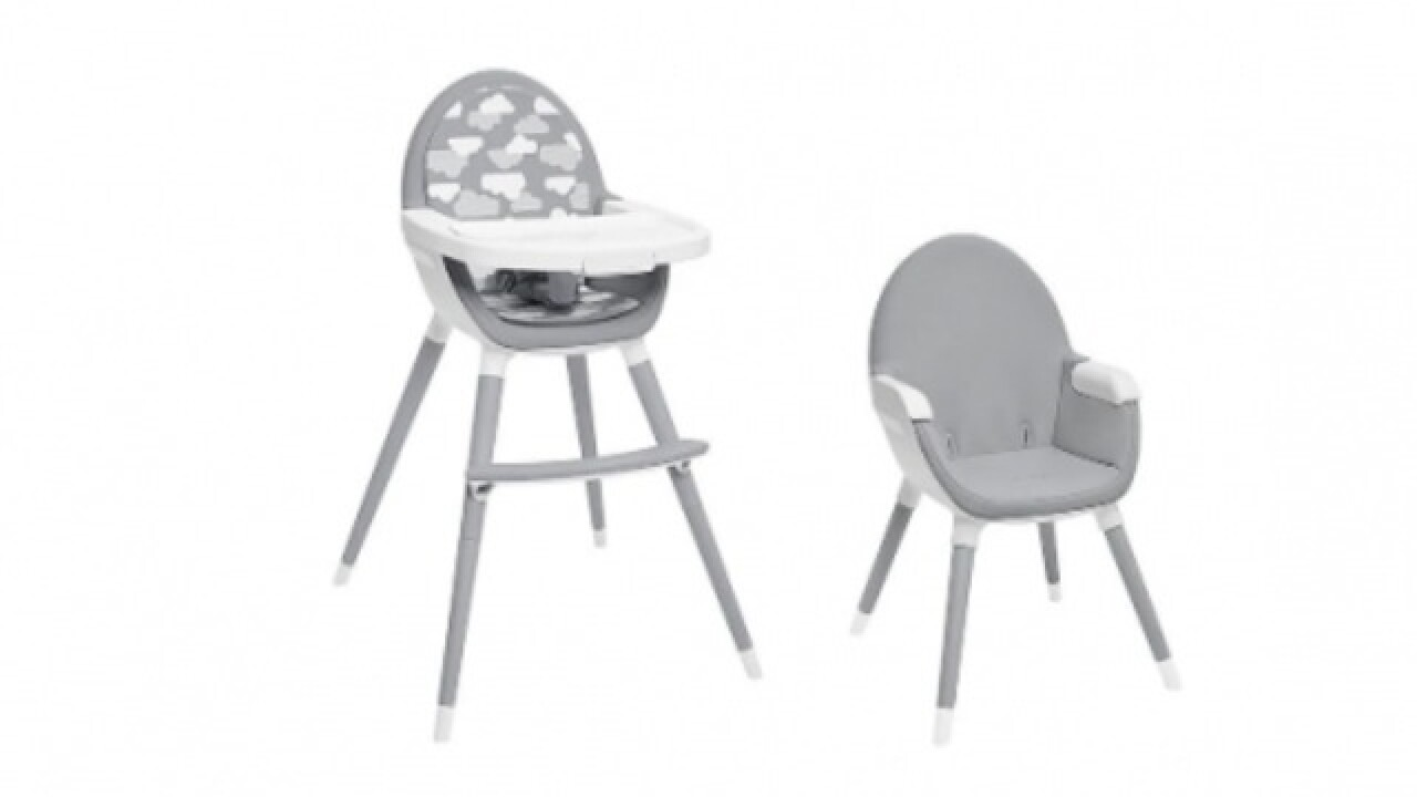 "High chairs recalled, product was sold at Babies ""R"" Us, Target, Kohl's and Dillard's"