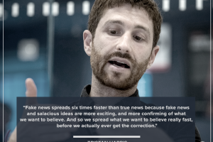 Tristan Harris talks about how misinformation is so easily spread