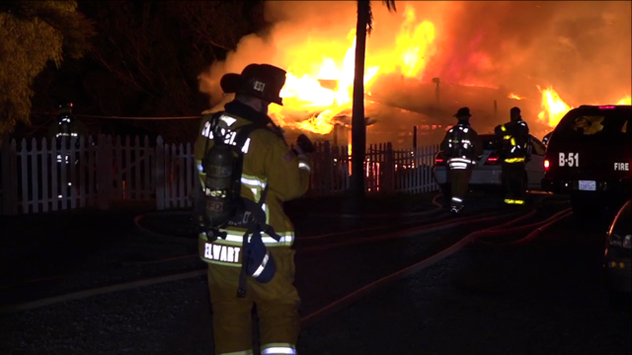 Fire rips through Bonita home, several hurt