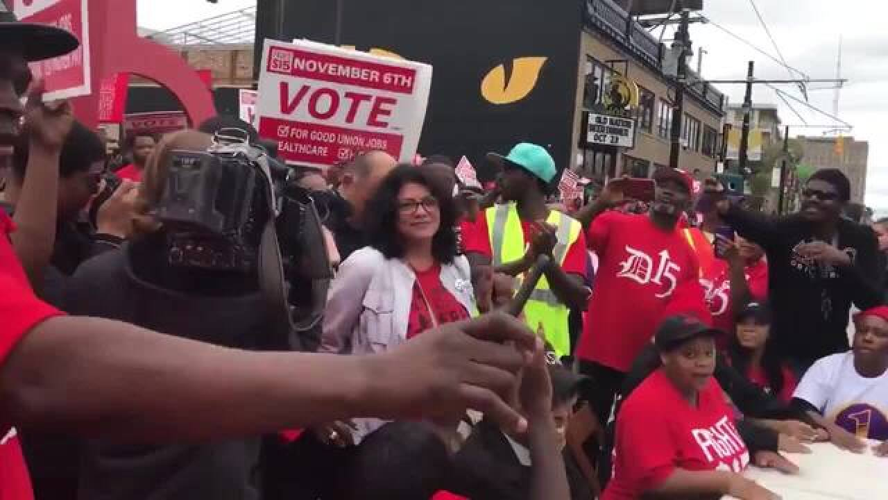 Tlaib, El-Sayed arrested at minimum wage rally