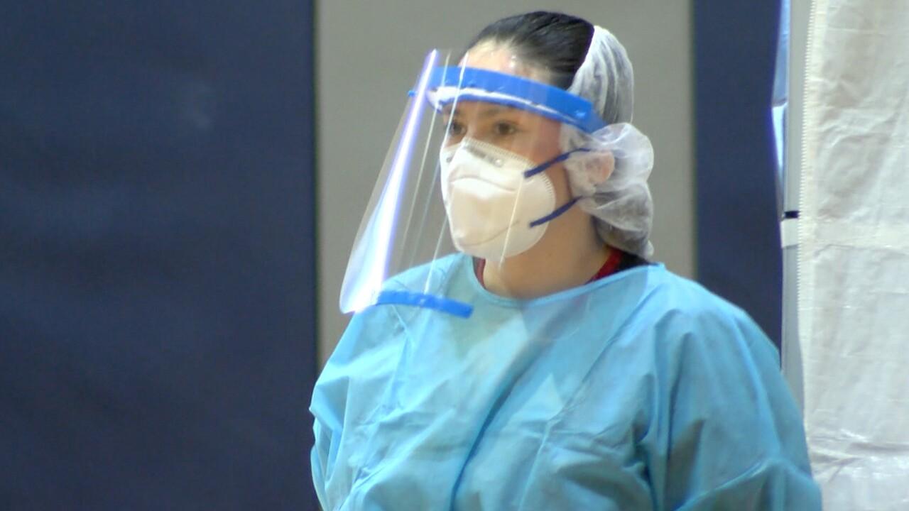 A new coronavirus testing site opened May 13, 2020 in Wellington.