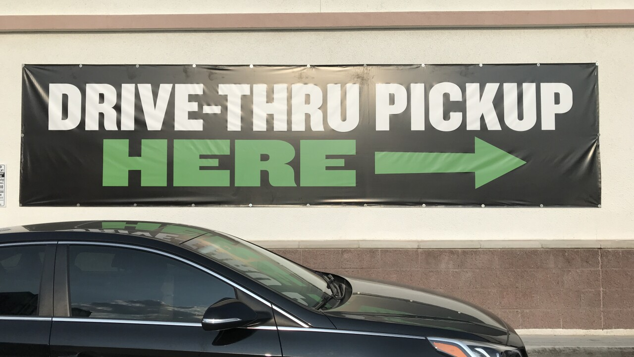 Clark County has approved a plan to allow dispensaries in unincorporated areas of the county to apply for opening drive thru service.