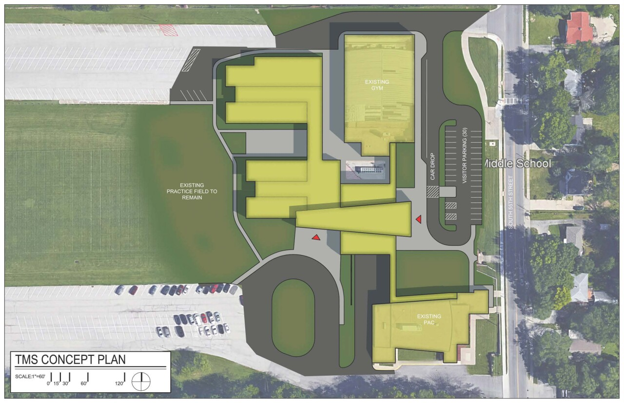 Turner Middle School Aerial Rendering