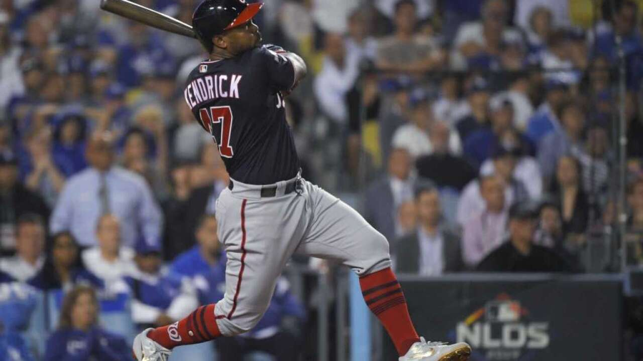 Kendrick grand slam in 10th inning of Game 5 of the NLDS