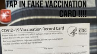 Fake COVID-19 vaccination card