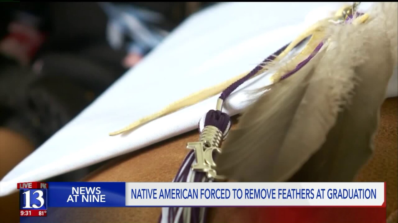 Navajo student told to remove feathers at Lehi graduation