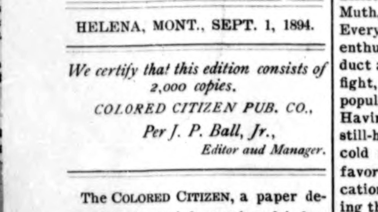 "On the second page of the first issue of ""The Colored Citizen"""