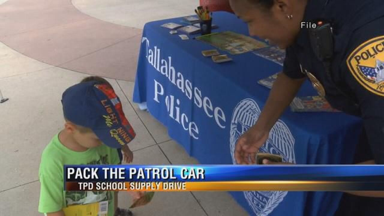 """Tallahassee Police set to """"Pack the Patrol Car"""" this weekend"""