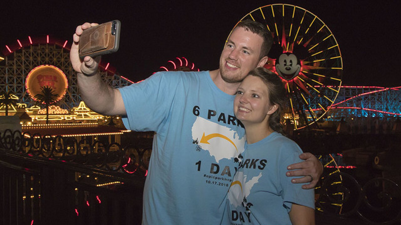 Couple visits 6 Disney parks on 2 coasts in day