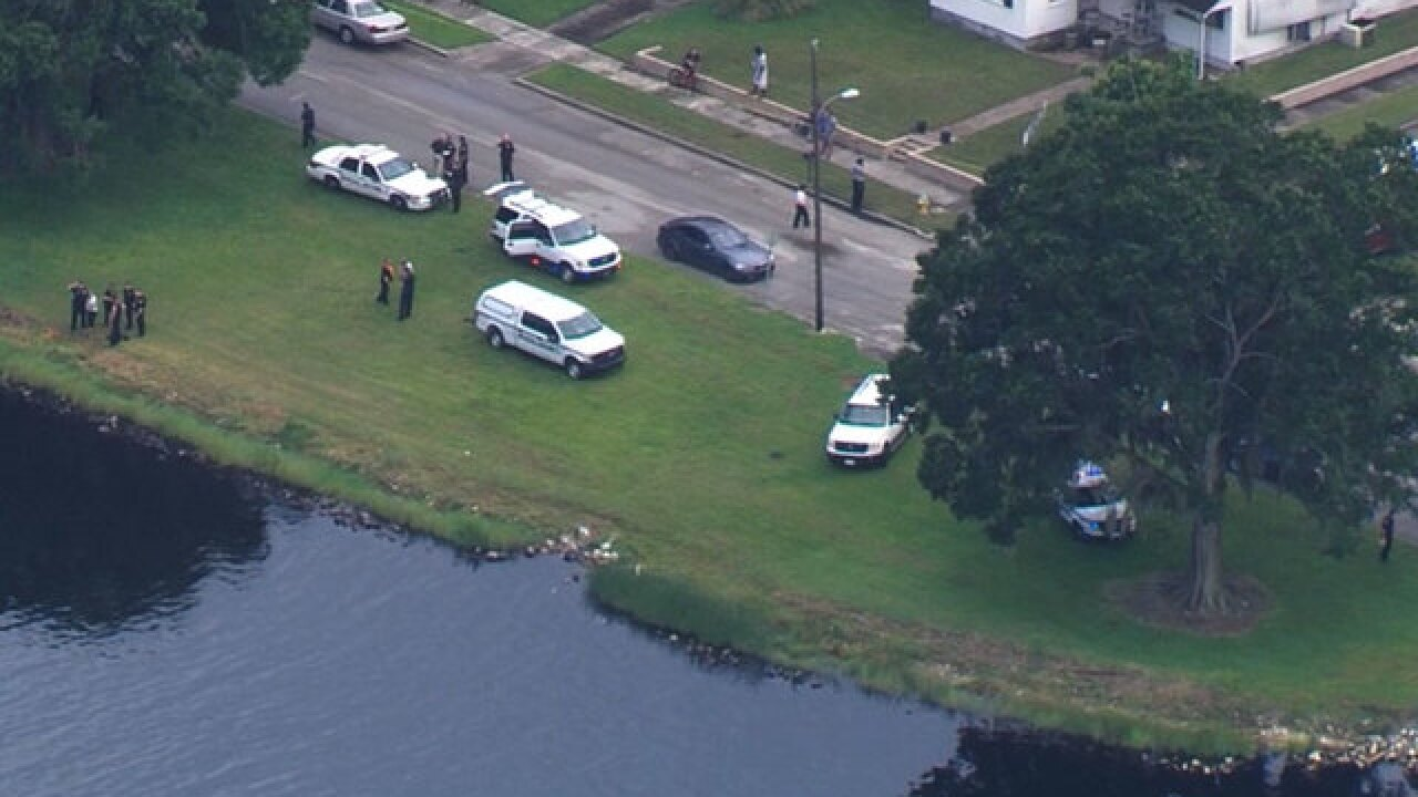 Child dies after being thrown into river
