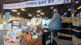 Feeding Tampa Bay warehouse.