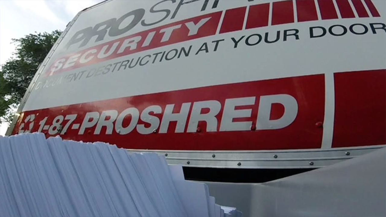 Free shredding event happening Saturday