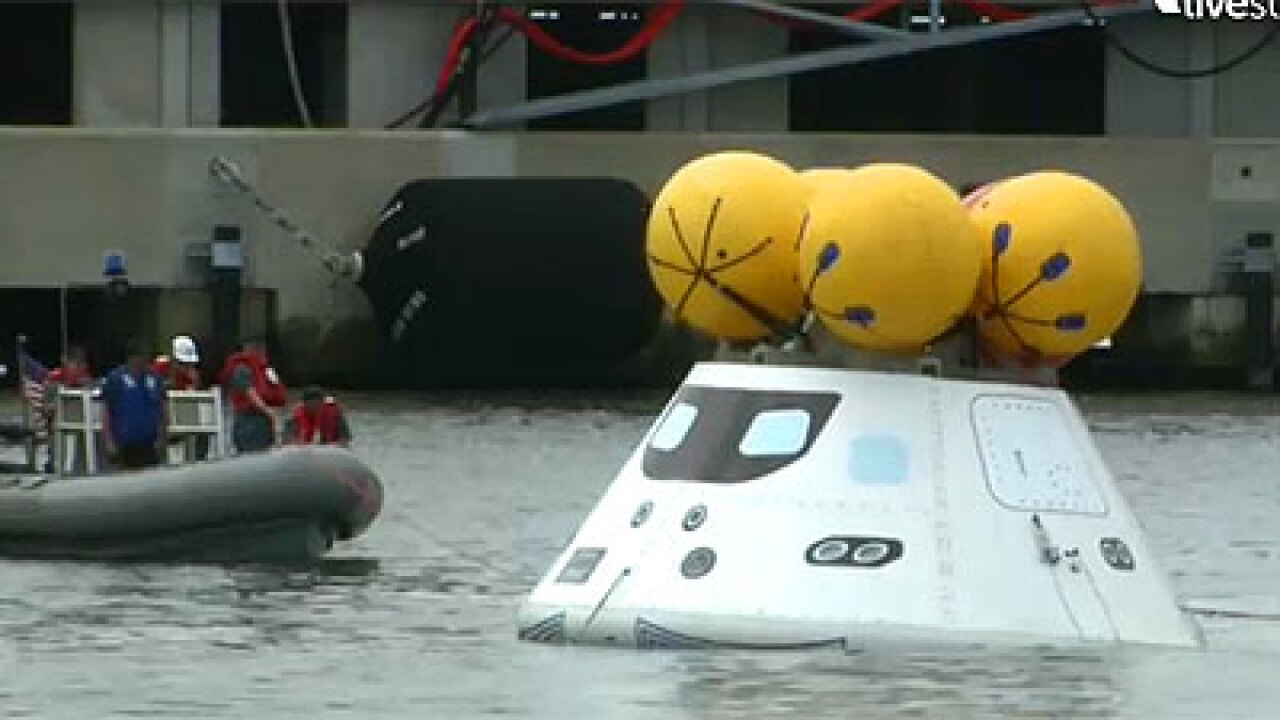 NASA, Navy test recovery of Orion capsule by the USS Arlington
