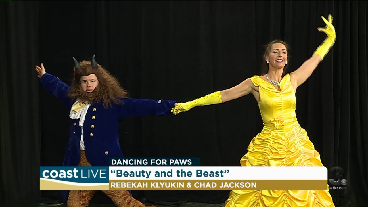 Our local stars are Dancing for Paws on Coast Live