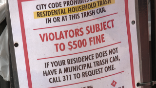Talkin' Trash: Correcting the misuse of pedestrian garbage cans