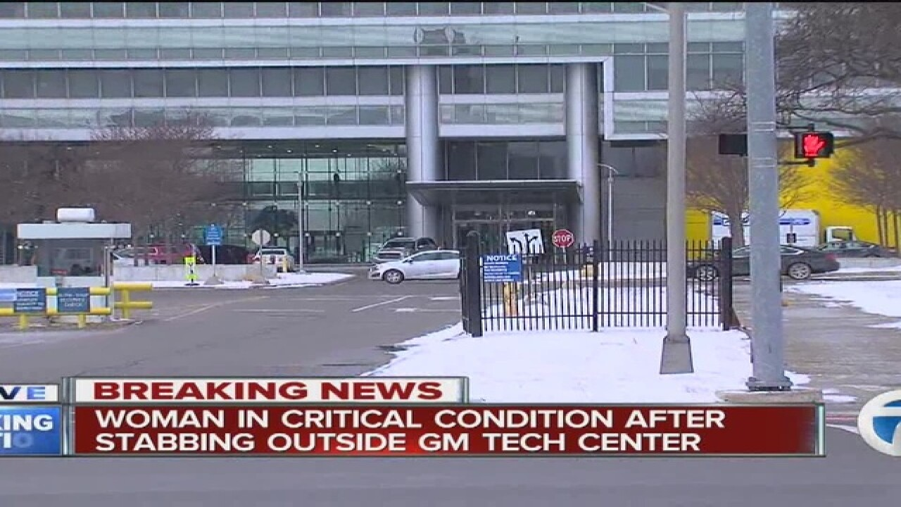 Woman stabbed at General Motors Tech Center