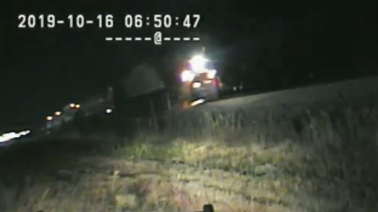 Dramatic video shows Utah trooper rescuing man from path of oncoming train