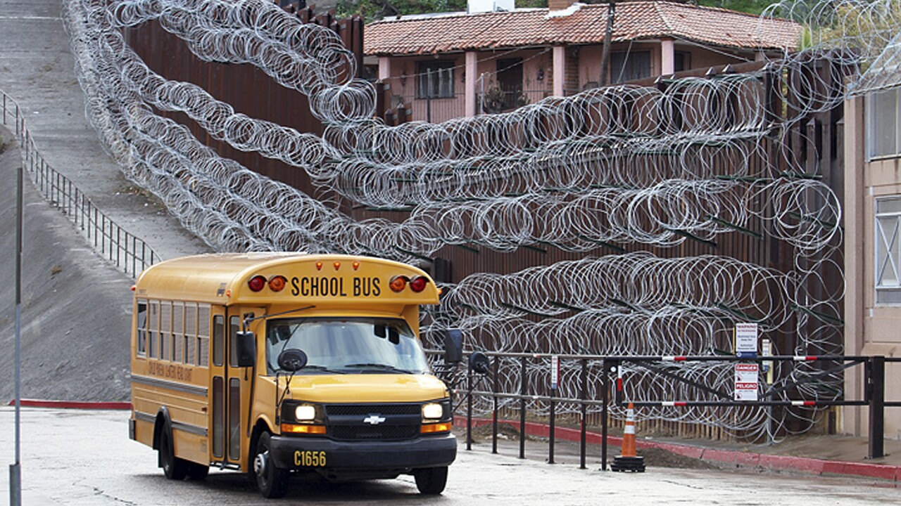 Nogales Border Concertina Wire Fence AP Photo