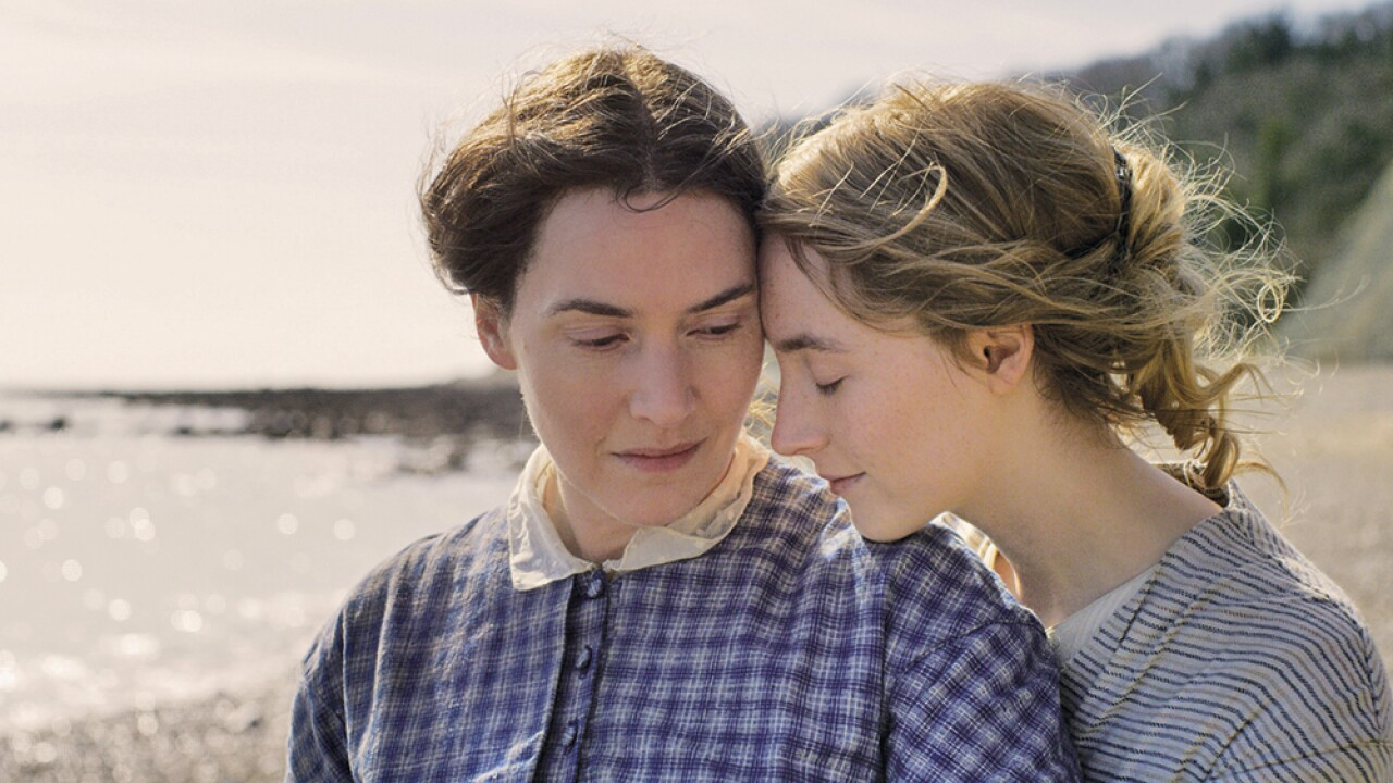 "Kate Winslet and Saoirse Ronan star in ""Ammonite."" Photo courtesy of Neon."