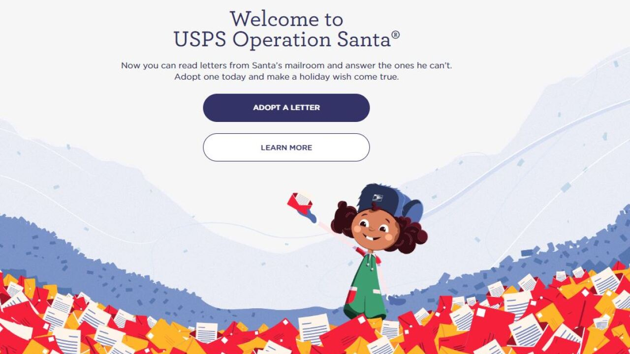 Adopt a letter to Santa from a child in need this Christmas through the new USPS website