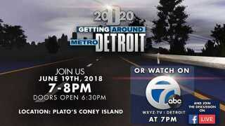 WATCH: Detroit 2020 Getting Around Metro Detroit town hall